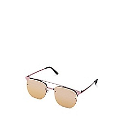 Quay Australia - Pink 'Private Eyes' oversized square sunglasses