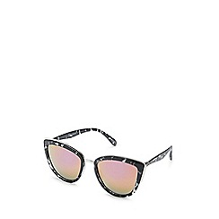 Quay Australia - Black 'My Girl' oversized cat eye sunglasses