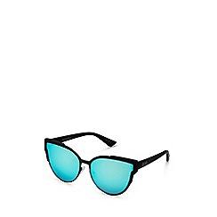 Quay Australia - Black 'Game On' oversized cat eye sunglasses