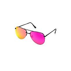 Quay Australia - Black 'The Playa' rimless oversized aviator sunglasses