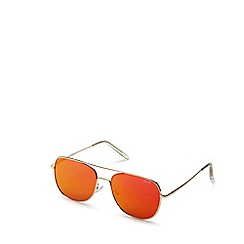 Quay Australia - Gold 'Running Riot' squared aviator sunglasses