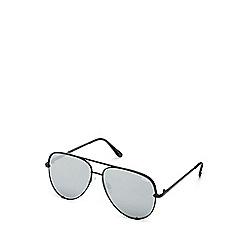 Quay Australia - Black 'High Key' oversized aviator sunglasses