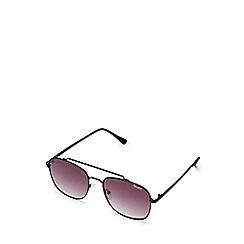 Quay Australia - Black 'To Be Seen' oversized classic sunglasses
