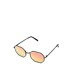 Quay Australia - Black 'On A Dime' oversized geometric sunglasses
