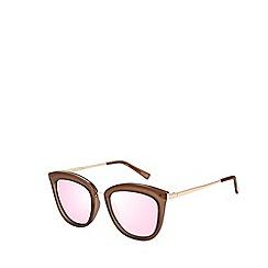 Le Specs - Brown modern cat eye sunglasses
