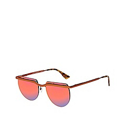 Le Specs - Multicoloured rimless square sunglasses