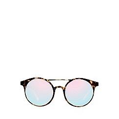 Le Specs - Brown classic round sunglasses