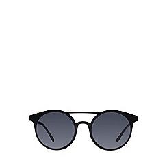 Le Specs - Black classic round sunglasses