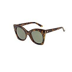 Le Specs - Brown cat eye sunglasses