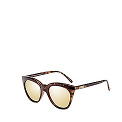 Le Specs - Brown sharp cat eye sunglasses