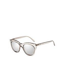 Le Specs - Silver sharp cat eye sunglasses