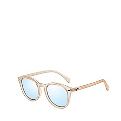 Le Specs - Gold modern round sunglasses