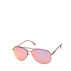 Seafolly - Pink classic aviator sunglasses with mirror lenses