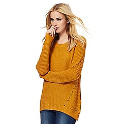 Animal - Dark yellow chunky knit jumper