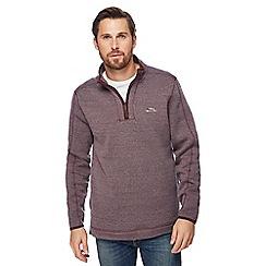 Weird Fish - Dark red zip funnel neck sweater