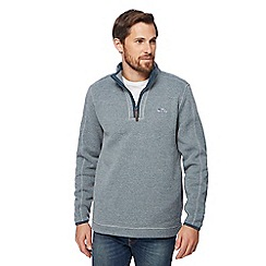 Weird Fish - Turquoise zip funnel neck sweater