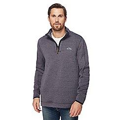 Weird Fish - Dark grey zip funnel neck sweater