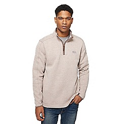 Weird Fish - Natural zip funnel neck sweatshirt