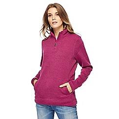 Weird Fish - Purple zip funnel neck sweater