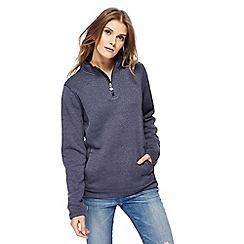 Weird Fish - Blue zip funnel neck sweater