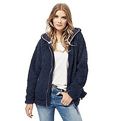Weird Fish - Navy fleece hoodie