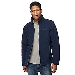 Regatta - Navy sherpa lined zip through sweater
