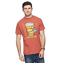 Weird Fish - Big and tall red 'beered fish' t-shirt