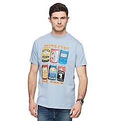 Weird Fish - Big and tall light blue six pack of beer printed t-shirt
