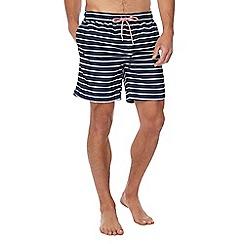 Gant - Navy stripe print swim shorts