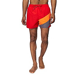 Nike - Red colour block swim shorts