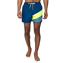 Nike - Dark turquoise colour block swim shorts