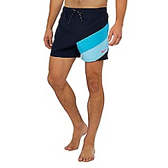 Nike - Navy colour block swim shorts