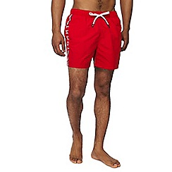 Tommy Hilfiger - Red logo print swim shorts