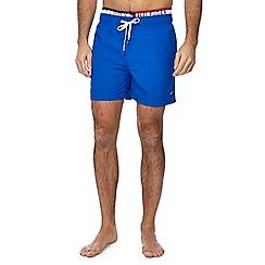 Tommy Hilfiger - Blue double waistband swim shorts