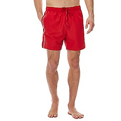 Calvin Klein - Red logo tape swim shorts