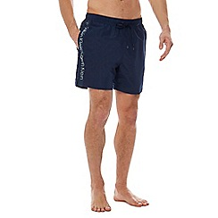 Calvin Klein - Navy logo tape swim shorts