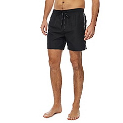 Calvin Klein - Black logo tape swim shorts
