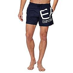 Emporio Armani - Navy logo print swim shorts