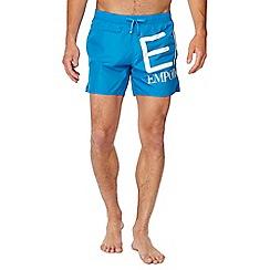 Emporio Armani - Blue logo print swim shorts