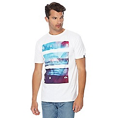 Quiksilver - White printed t-shirt