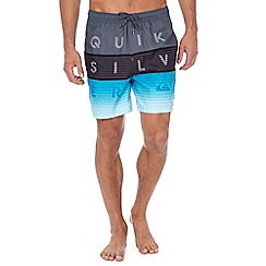 Quiksilver - Grey printed swim shorts