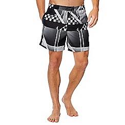 Quiksilver - Black 'Checker Remix' swim shorts