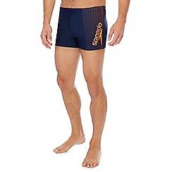 Speedo - Navy gala logo swim trunks