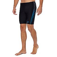 Speedo - Black stripe panel swim trunks