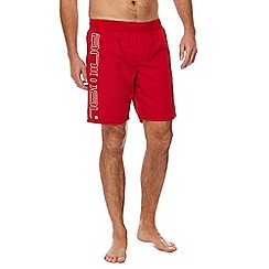 Animal - Red 'Belos' logo print swim shorts