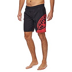 Animal - Black 'Balwa' logo print swim shorts