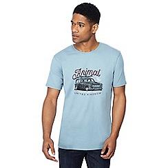 Animal - Light blue car print t-shirt