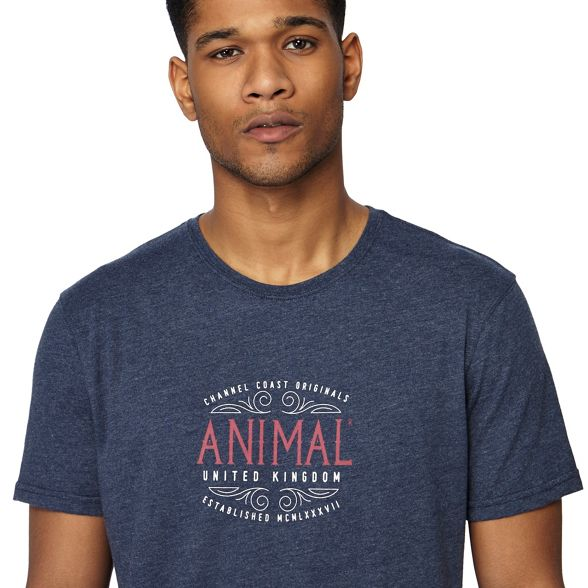 logo print t shirt Navy Animal fqnE0Z5xA