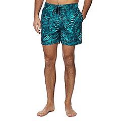 Tommy Hilfiger - Turquoise hibiscus swim shorts
