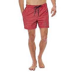 Tommy Hilfiger - Red geometric print swim shorts
